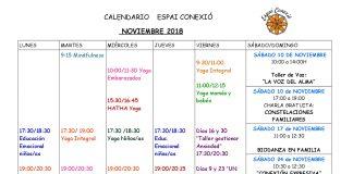 calendario noviembre 2018 espai conexió