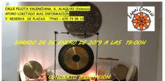 concierto meditación en Alaquàs, armonización vibracional energética