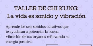 Taller de chi kung en Espai Conexió, Alaquàs. La vida es sonido y vibración.