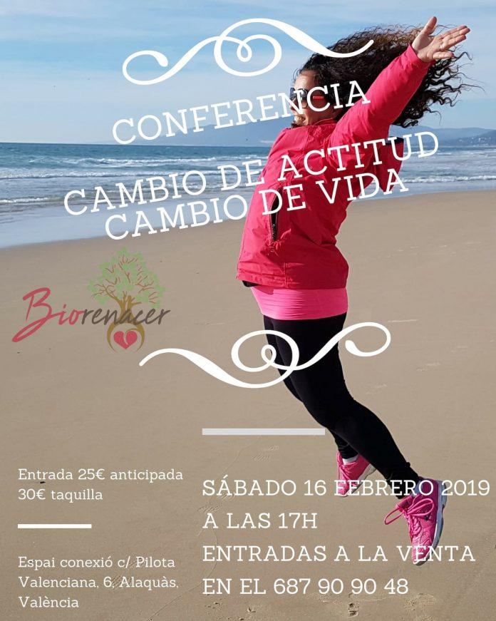 Conferencia Cambio de Actitud Cambio de Vida, en Alaquas, Espai Conexió. Crecimiento personal