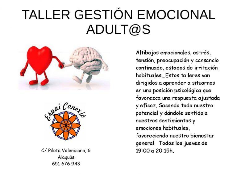 Clases de Gestión Emocional en Alaquàs para adult@s