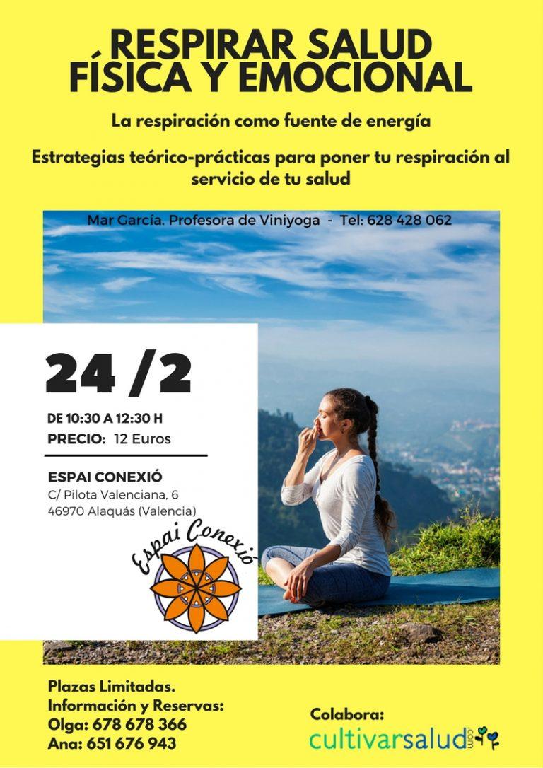 Respirar Salud Física y Emocional. Sábado 24 febrero