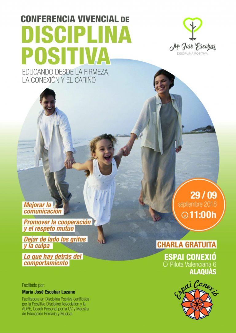 Conferencia vivencial Disciplina Positiva. Sábado 29 de septiembre