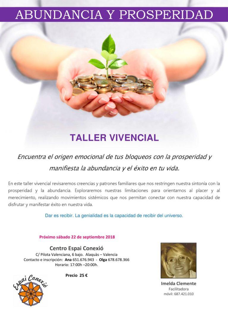 Taller vivencial Abundancia y Prosperidad. Sábado 22 de septiembre