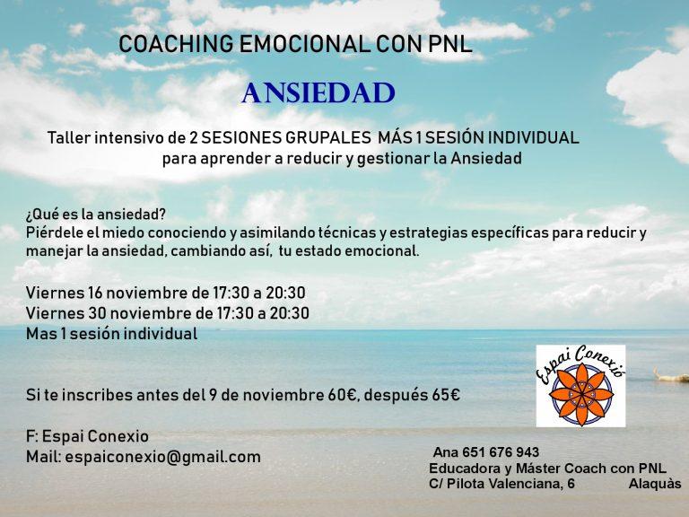 Taller para Reducir la ansiedad con PNL en Alaquàs