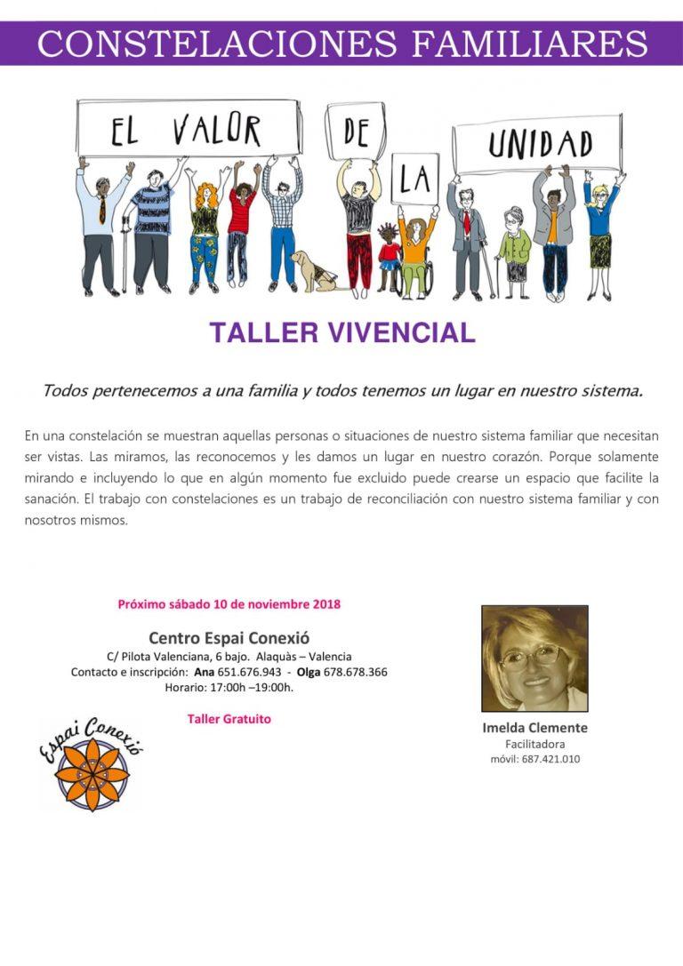 TALLER VIVENCIAL EN ALAQUÀS CONSTELACIONES FAMILIARES