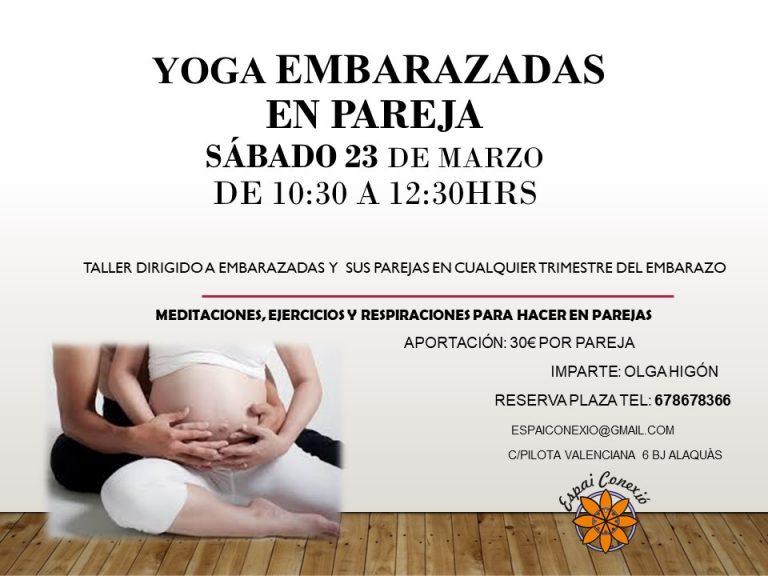 Taller Yoga embarazadas en pareja