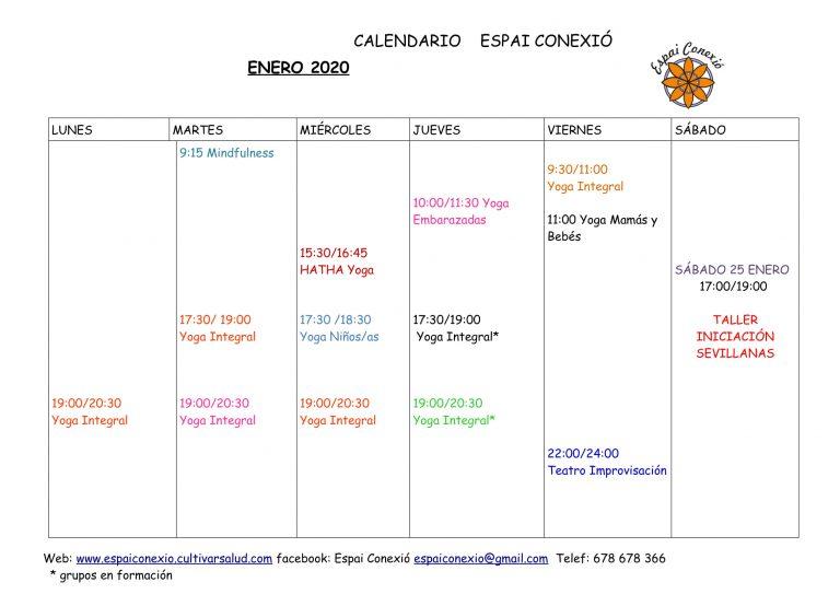 ACTIVIDADES ESPAI CONEXIÓ ENERO 2020